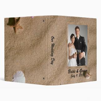 Beach Serenity Wedding Photo Album 3 Ring Binder