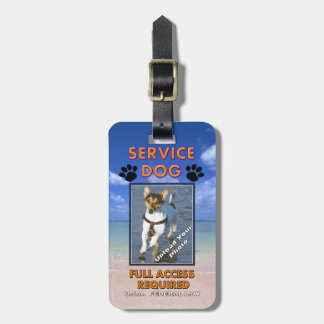 Beach Service Dog Photo ID Tags For Luggage