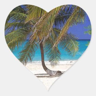 Beach Seven Mile Grand Cayman Heart Sticker