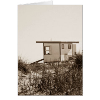 Beach Shack in Sepia Card
