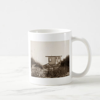 Beach Shack in Sepia Coffee Mug