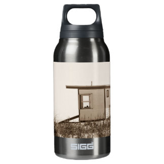 Beach Shack in Sepia Insulated Water Bottle