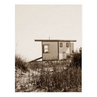 Beach Shack in Sepia Postcards