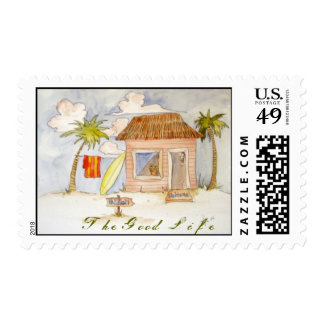 "Beach shack ""the good life"" stamps"