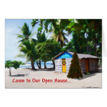 Beach Shack Under the Palms at Christmas Cards