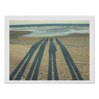Beach Shadows Posters
