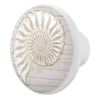 Beach Shell Drawer Knobs Ceramic Knob