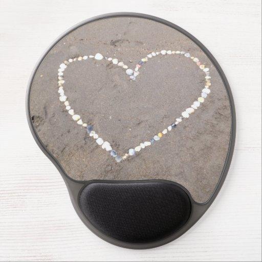 Beach Shell Heart Gel Mousepads