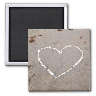 Beach Shell Heart Magnet
