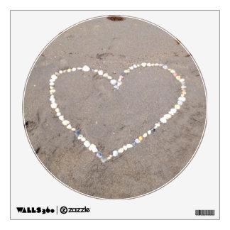 Beach Shell Heart Wall Decal