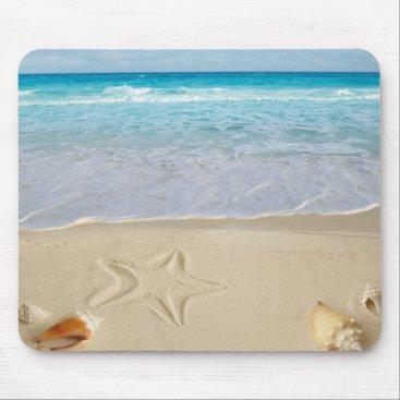 Hawaiian Themed Beach Shell Mouse Pad