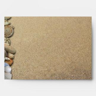 Beach Shells and Sand Custom Addressed Envelope