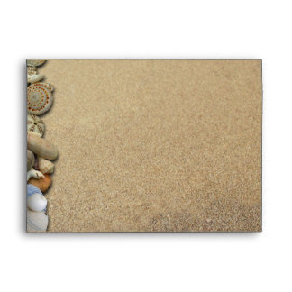 Beach Shells and Sand Custom Addressed Envelope