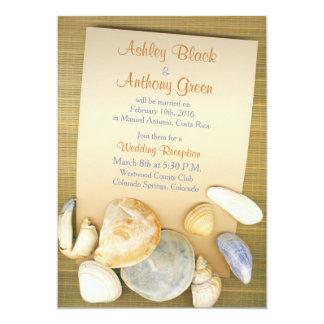 Beach Shells Destination Wedding Reception Only Card