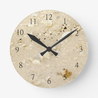 Beach shells in the Sand Clock