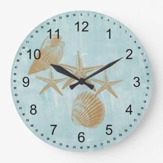 Beach Shells Large Clock