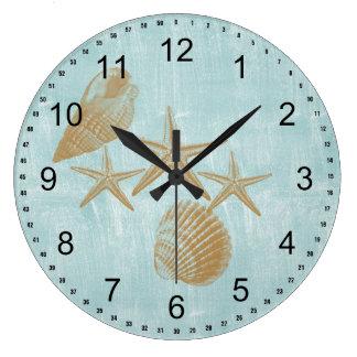 Beach Shells Large Clock