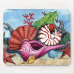 Beach Shells Painting - Customized Mouse Mat