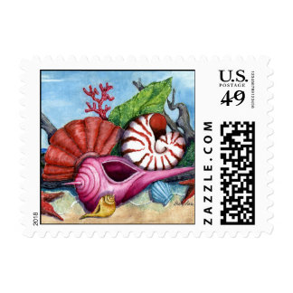 Beach Shells Painting Postage