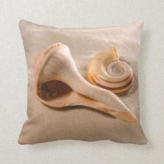 Beach Shells Throw Pillow