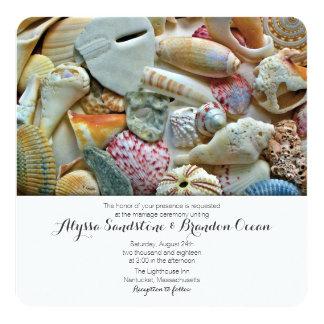 Beach Shells Tropical Designer Wedding Stationery Card