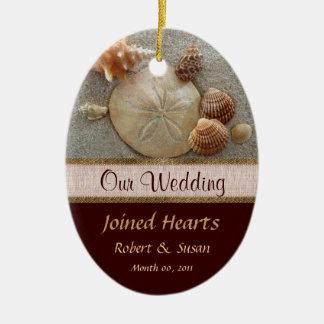 Beach Shells Wedding Favor Ornament