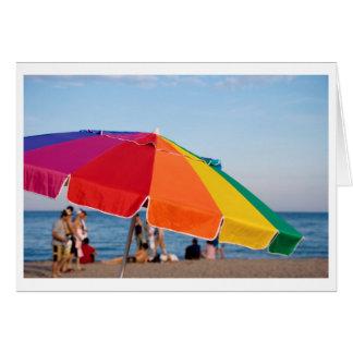 beach shelter card