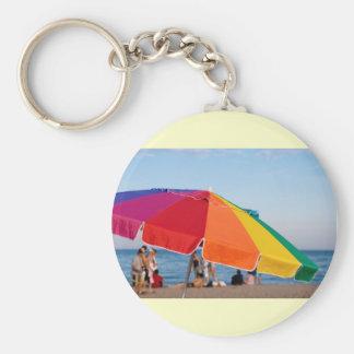beach shelter key chain