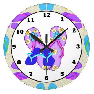 Beach Shoes Tropical wall clock
