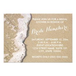 Beach Shore Bridal Shower Invitations
