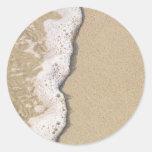 Beach Shore Classic Round Sticker