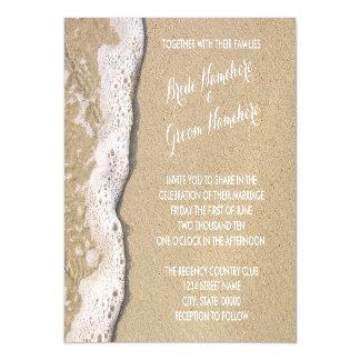 Beach Shore Magnetic Wedding Invitations