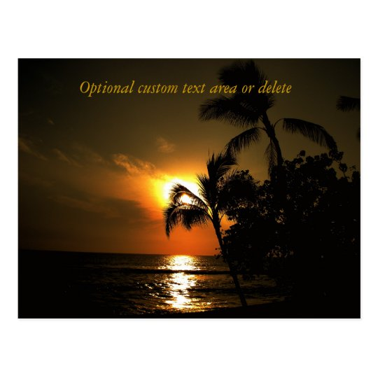 Beach Shoreline Sunset Postcard