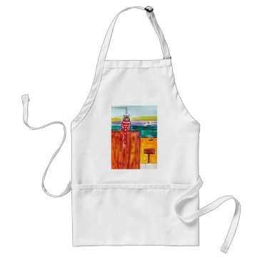 Beach Themed Beach Shower for Cats Adult Apron