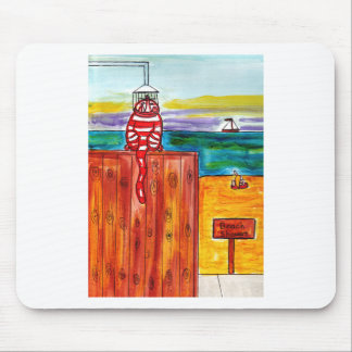 Beach Shower for Cats Mouse Pad