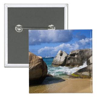 Beach side at Virgin Gorda, British Virgin Button