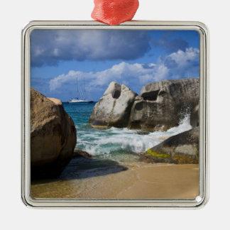Beach side at Virgin Gorda, British Virgin Metal Ornament