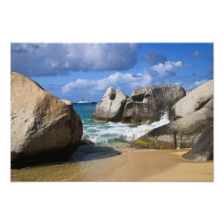 Beach side at Virgin Gorda, British Virgin Photo Print