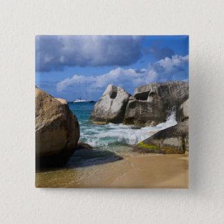Beach side at Virgin Gorda, British Virgin Pinback Button