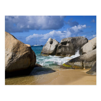 Beach side at Virgin Gorda, British Virgin Postcard