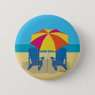 Beach Side Paradise Pinback Button