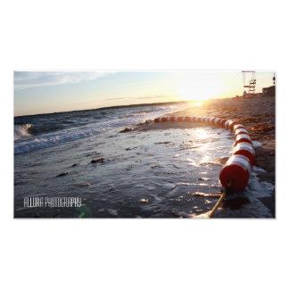Beach side photographic print