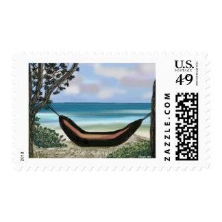 Beach Siesta Postage Stamps