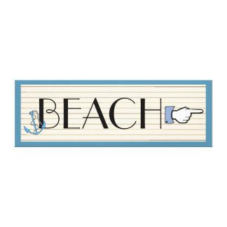 Beach Sign Gallery Wrap Canvas
