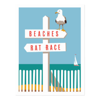 Beach Sign Post Postcard