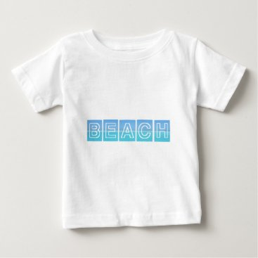 Beach Themed Beach Sillouette Design Blue & Beautiful Baby T-Shirt