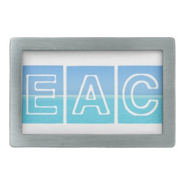 Beach Themed Beach Sillouette Design Blue & Beautiful Belt Buckle