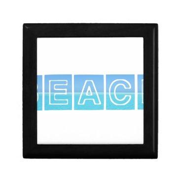 Beach Themed Beach Sillouette Design Blue & Beautiful Gift Box