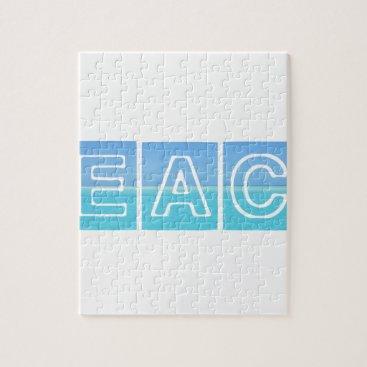 Beach Themed Beach Sillouette Design Blue & Beautiful Jigsaw Puzzle