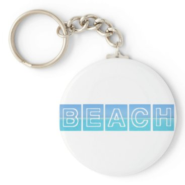 Beach Themed Beach Sillouette Design Blue & Beautiful Keychain